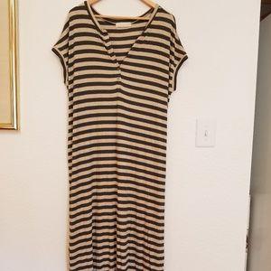MATERNITY Hatch striped dress